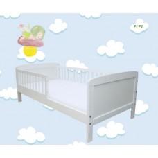 Priedes koka gultiņa - balta 140 x 70 cm