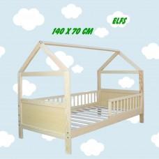 Bērnu gulta - mājiņa 140x70cm